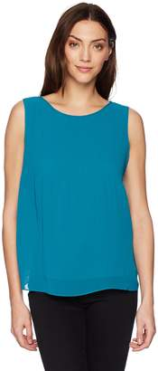 Max Studio Women's Solid Sleeveless Top with Pleats