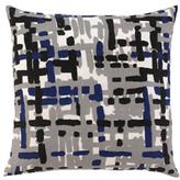 Painted Tweed Cobalt Throw Pillow