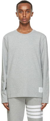 Thom Browne Grey Relaxed Fit Long Sleeve T-Shirt