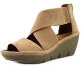 Clarks Clarene Glamor Open Toe Leather Wedge Sandal.