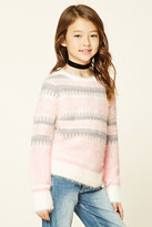 Forever 21 FOREVER 21+ Girls Fuzzy Knit Sweater (Kids)