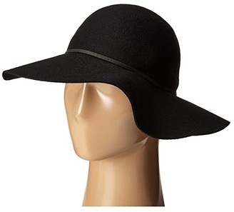 San Diego Hat Company WFH7950 Floppy with Round Crown and Faux Suede Band (Black) Caps