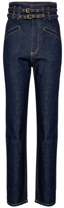 Philosophy di Lorenzo Serafini High-rise belted tapered jeans
