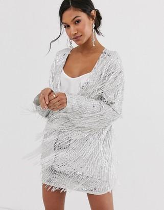 Asos EDITION sequin fringe jacket