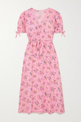 Faithfull The Brand Daija Floral-print Crepe Midi Dress