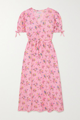 Faithfull The Brand + Net Sustain Daija Floral-print Crepe Midi Dress - Baby pink