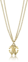 Roberto Cavalli RC Icon Metal Necklace w/Double Chain