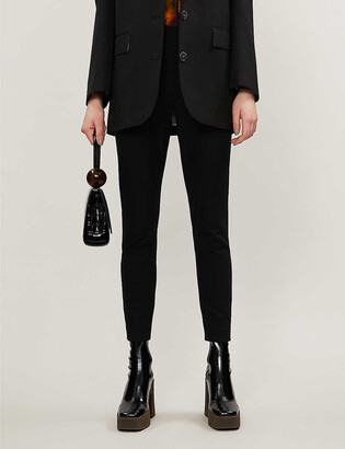 Whistles Tapered mid-rise stretch-twill trousers