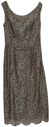 Collette Dinnigan Silver Lace Dress for Women