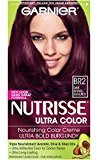 Garnier Nutrisse Ultra Color Nourishing Color Creme, BR2 Dark Intense Burgundy (Packaging May Vary)