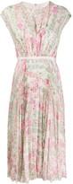 Giambattista Valli silk floral print midi dress