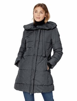 Lark & Ro Amazon Brand Women's Long Shawl Pillow Collar Puffer Jacket