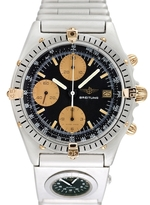 Breitling Vintage Chronomat Dual Time Stainless Steel & 18K Yellow Gold Watch, 40mm