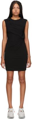Alexander Wang Black Crepe Jersey Twisted Minidress