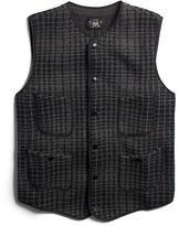Ralph Lauren RRL Indigo Jacquard-Knit Vest