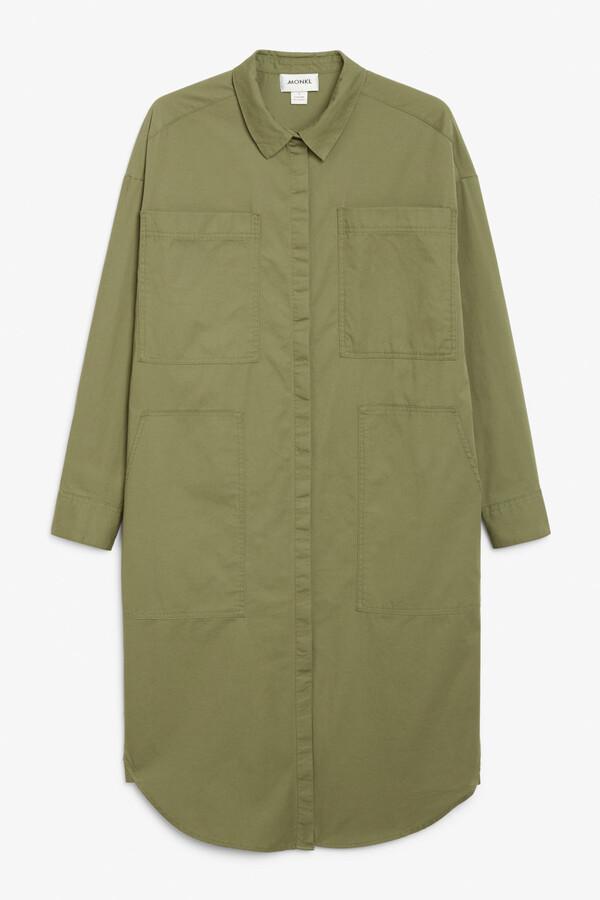 Thumbnail for your product : Monki Utility shirt dress