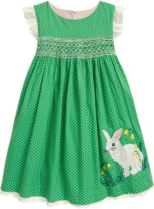 Boden Kids' Bunny Smocked Dress