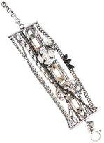 Iosselliani Faux Pearl & Crystal Multistrand Bracelet