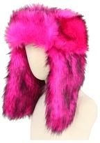 Juicy Couture Faux Fur Trapper (Pink Cerise) - Hats
