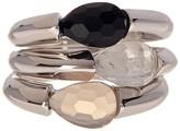 Savvy Cie Semi-Precious Stone Stackable Ring Set