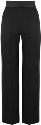 Mark Kenly Domino Tan Pippo black wool-twill trousers