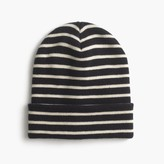 J.Crew Striped beanie hat
