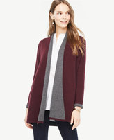 Ann Taylor Wool Cashmere Shawl Collar Coatigan