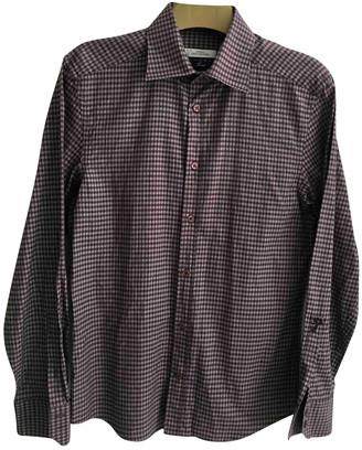 Versace Purple Cotton Shirts