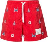 Thom Browne printed swim shorts - men - Nylon - 2