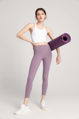 J.ING Honeysuckle Lavender High-Waist Side Panel Legging