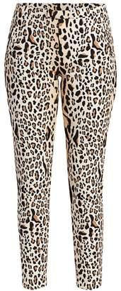 ATM Anthony Thomas Melillo Slim-Fit Leopard Print Jeans