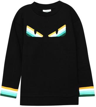 Fendi Kids Monster Eyes Knit Sweater, Black