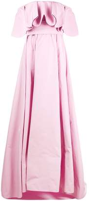 Valentino Ruffled Off-The-Shoulder Gown
