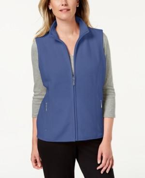 Karen Scott Plus Size Zeroproof Zip-Front Vest, Created for Macy's