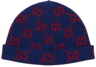 Gucci Logo Intarsia Wool Hat