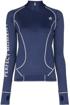 Perfect Moment Half-Zip Logo Thermal Top