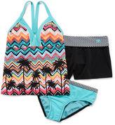 ZeroXposur 3-pc. Swimsuit and Shorts Set - Girls 7-16
