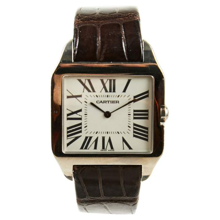 Cartier Santos Dumont white gold watch