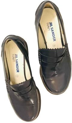 Jil Sander Navy Leather Flats