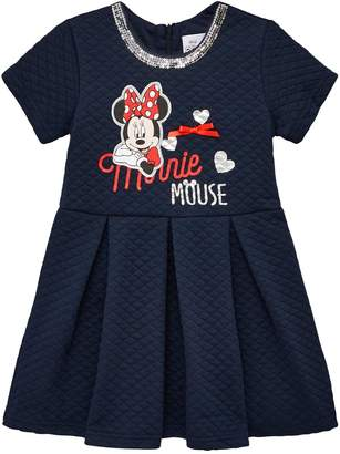 Minnie Mouse Short Sleeve Dress - Navy