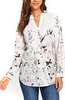 Wallis Women's Pretty Neutral Floral Print Shirt