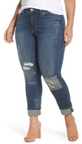 Melissa McCarthy Plus Size Women's Stitch & Repair Roll Cuff Skinny Jeans
