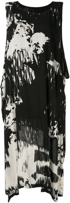 Y's Sleeveless Abstract Print Dress
