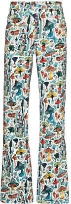 Charles Jeffrey Loverboy Shroom-print straight-leg trousers
