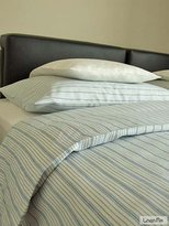 Linenme Bedlinen Set White Blue Striped Linen Cotton Jazz