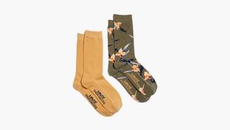Levi's Tropical Print Crew Cut Socks (2 Pack)