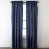 Royal Velvet Plaza Thermal Interlined Rod-Pocket Curtain Panel