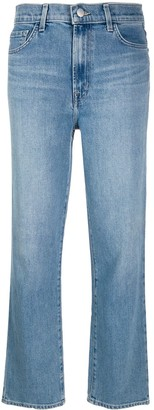 J Brand Marcella cropped straight let denim jeans