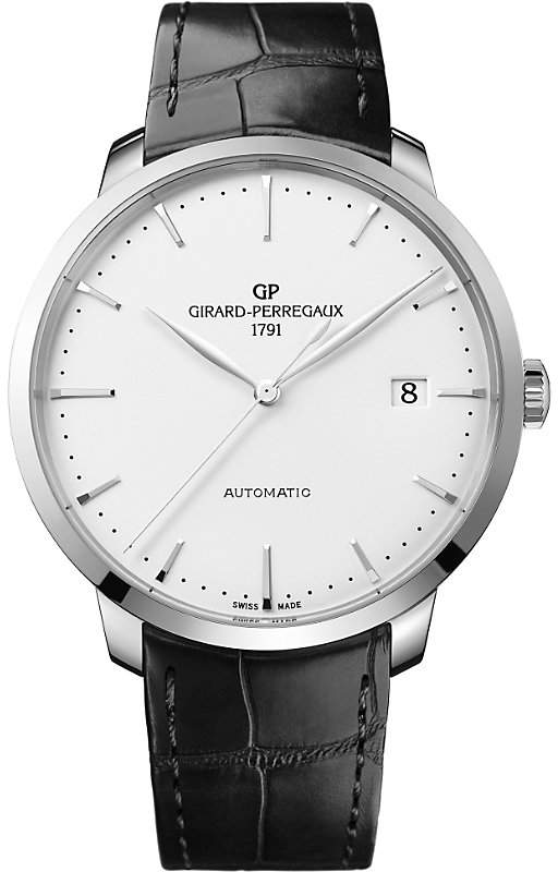 Girard Perregaux GIRARD-PERREGAUX 49551-11-132-BB60 1966 alligator-leather and stainless steel watch
