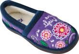 Acorn Children's Glow Flowerfly - Flowerfly Purple Cozy Italian Plush Slippers